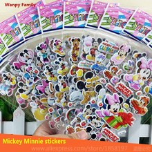 Very lovely Mickey and Minnie stickers,3D Cartoon Mickey mouse wall stickers,Kids Festival Gift DIY toy stickers