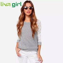 Fashion Sexy Backless Long Sleeve Embroidery Lace Crochet T Shirt Women Casual Lady Slim Stitching Tops Tracksuit Blusa Tee Jan3
