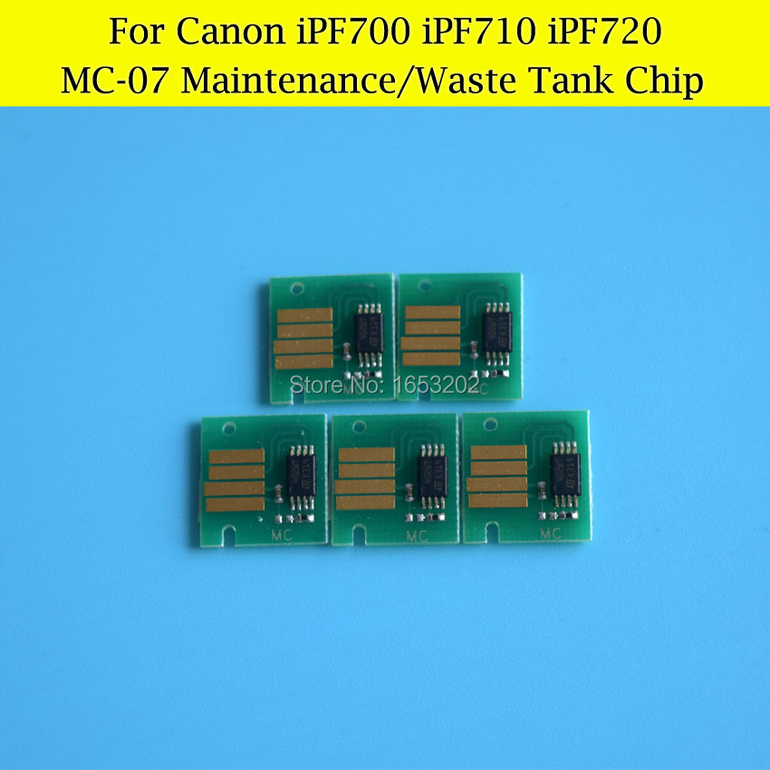5 PCS/Lot MC-07 Chips For Canon iPF710 iPF720 iPF700 Maintenance Tank Chips/Waste Ink Tank Chips<br><br>Aliexpress