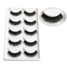 2016 5 Pairs New Natural Long Thick False Fake Eyelashes Makeup Beauty Party False Eye Lashes(China)