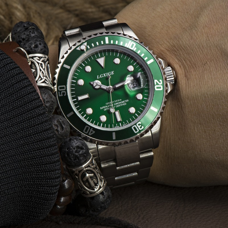LGXIGE Role Watches men Luxury Brand mens watches top brand luxury Full Steel Sports Army Military Quartz Watches<br>