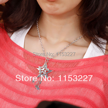 Western Style Diamante five-pointed star necklace(China)