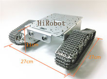 T300 All Metal Tank, Metal Tracks, Aluminum alloy smart tank chassis with robot arm interface, for DIY, Robot study project