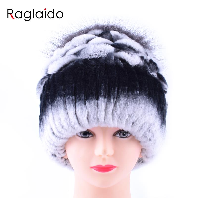 Raglaido New Rex Rabbit Fur Hats Winter Real Fur Fox Floral Princess Caps Women Snow Skullies Beanies Girls Accessories LQ11162Îäåæäà è àêñåññóàðû<br><br>