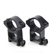 2 Pcs 25mm 1 Inch High Profile Ring Scope Weaver Rail Mount 20mm Picatinny Scope Mounts & Accessories Black