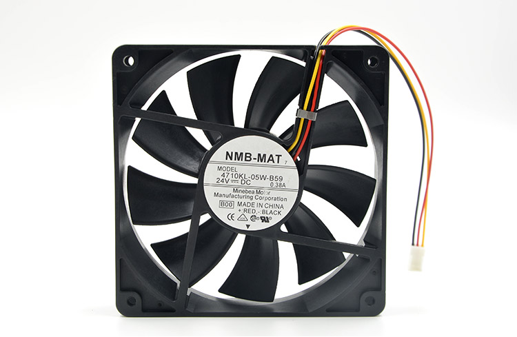 Free Shipping For  NMB 4710KL-05W-B59 DC 24V 0.38A 3-wire 3-pin connector 100mm 120X120X25mm Server Square Cooling Fan<br>