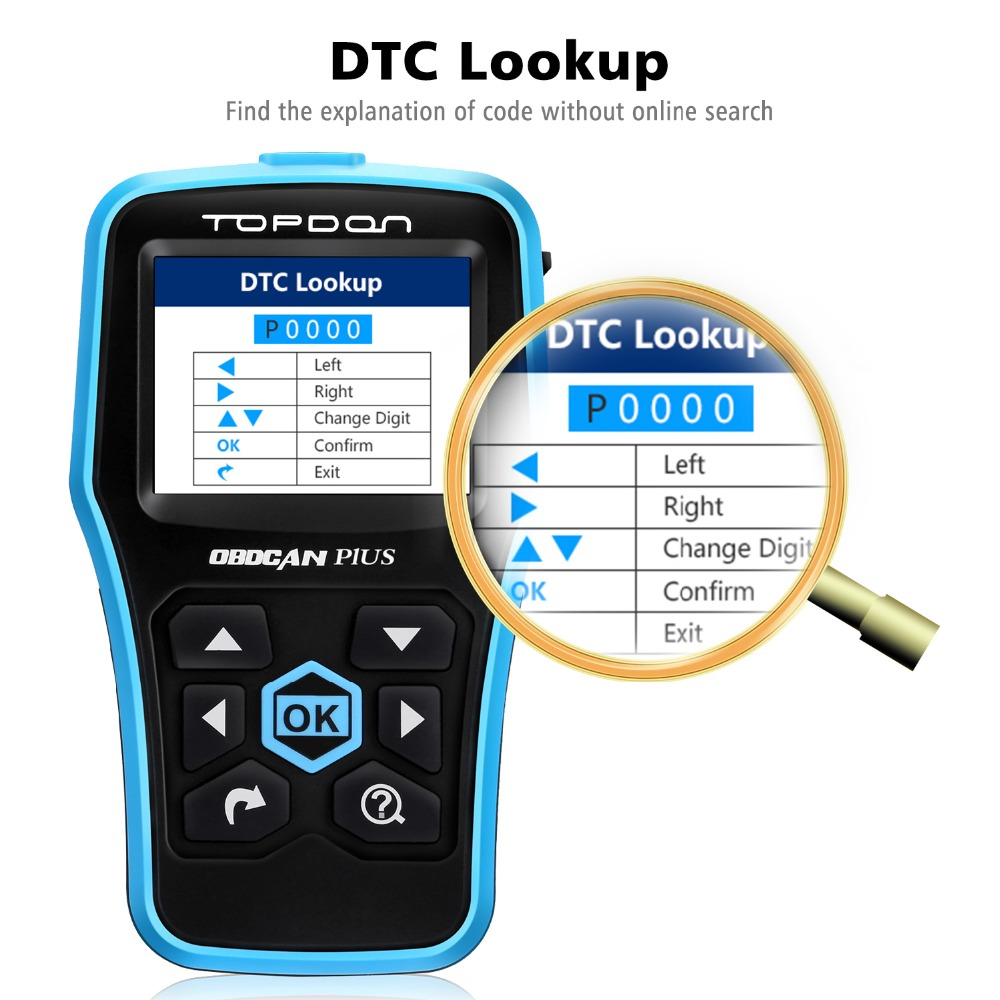 TOPDON OBDCAN PLUS 2.0 OBD2 Fault Code Reader Scanner Auto Diagnostic Tool