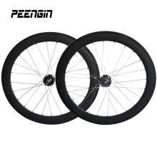manufacturer sales!new tech hot wheels track bike carbon 700C 23 wide spoke rim fixie 60mm deep clincher bicycle fixie wheelsets(China)