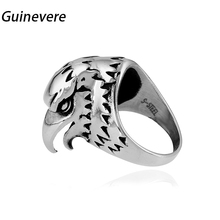 Guinevere  316L Stainless steel Punk  Ring for Men  Classic The eagle head Finger Rings Fashion Jewelry