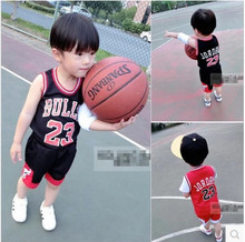 Retail 2017 Kids Summer new basketball suit sportswear set boys clothes boys clothing sets children vest+ shorts sets 2-9 year