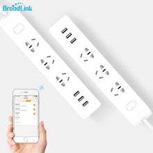 Original BroadLink MP2 Smart Wifi Power Strip WiFi Socket Remote Control 3 Outlet with 3 USB Fast Charging 2.1A for iOS Android