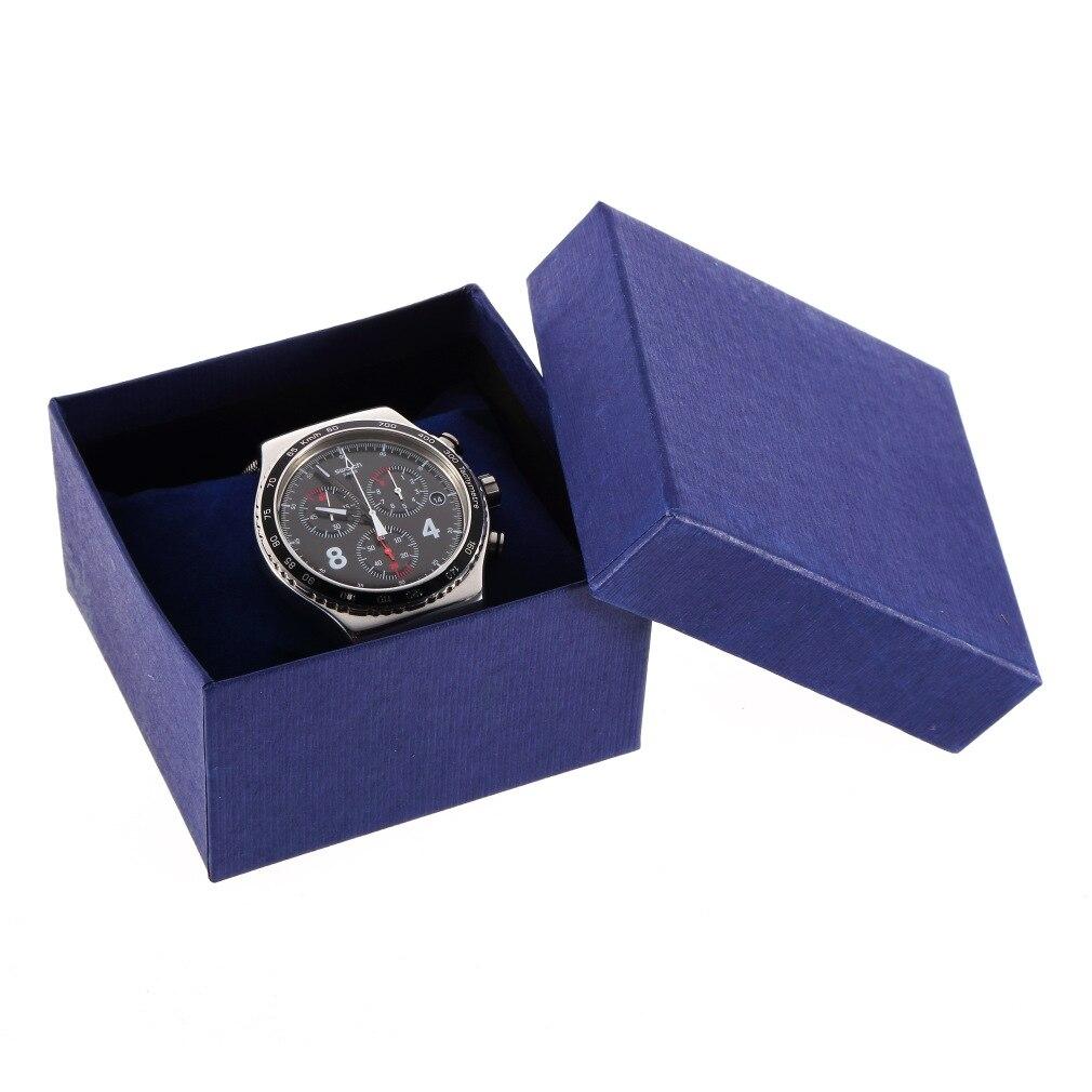 Jewelry Watch Box Case Fashion Elegant Pure Color Paper Present Gift Jewelry Boxes Case Display Storage Organizer Box Relogio