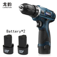 12V Electric Screwdriver Multi-function Cordless Charging Drill bit Rechargeable Battery*2 Parafusadeira Furadeira Power Tools(China)