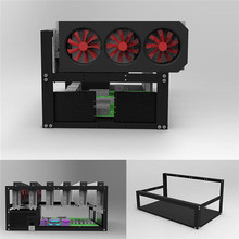 New Crypto Coin 6 GPU Open Air Mining Frame Rig Case Up to 6 Graphic Card Open Air ETH BTC Ethereum Miner Computer Case Towers(China)