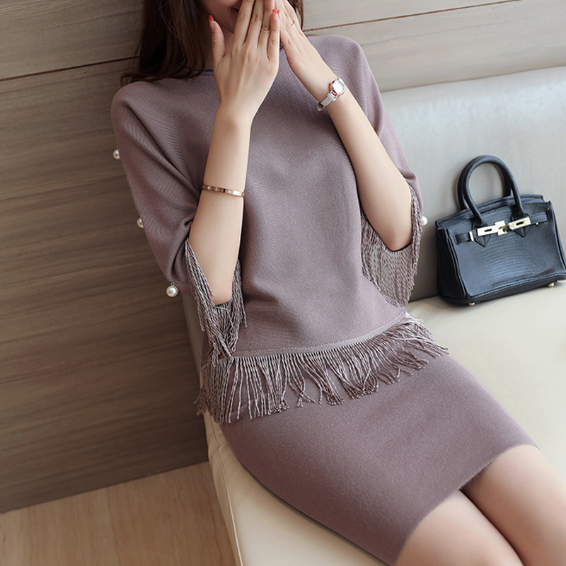 Autumn sets of women's fashion two-piece 2016 new sleeveless sweater women's slim Korean fringed skirt