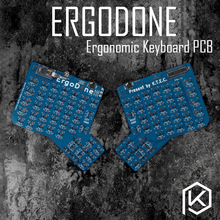 ergodone ergo Custom Mechanical Keyboard TKG-TOOLS PCB programmed Ergonomic Keyboard Kit similar with infinity ergodox(China)