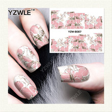 YZWLE 1 Sheet Chic Flower Designer DIY Water Transfer Sticker For Nail Art Accessories (YZW-8087)