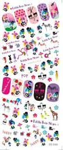 DS046 Water Transfer Foils Nail Art Sticker Harajuku Twins Stars Manicure Decals Minx Nail Decorations Stickers for Nail