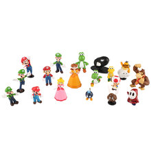 18pcs Super Mario Character Bros  Action Figure Set Doll Display Gift Decor