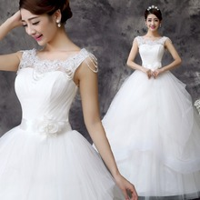 Free Shipping New Fashion Sexy Wedding dress White Princess Bride Vestidos De Novia Bridal Design Wedding gown Wedding frock D60