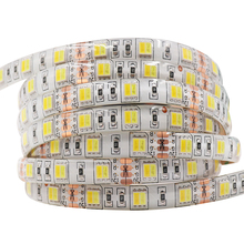 2 colors in 1 led 5050 LED Strip Dual White 5630 CW/WW CCT color temperature 5m LED tape Lights 12V Non waterproof Free shipping