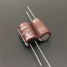 10pcs 1000uF 25V NIPPON NCC KY Series 12.5x20mm Low impedance Long Life 25V1000uF Aluminum Electrolytic Capacitor