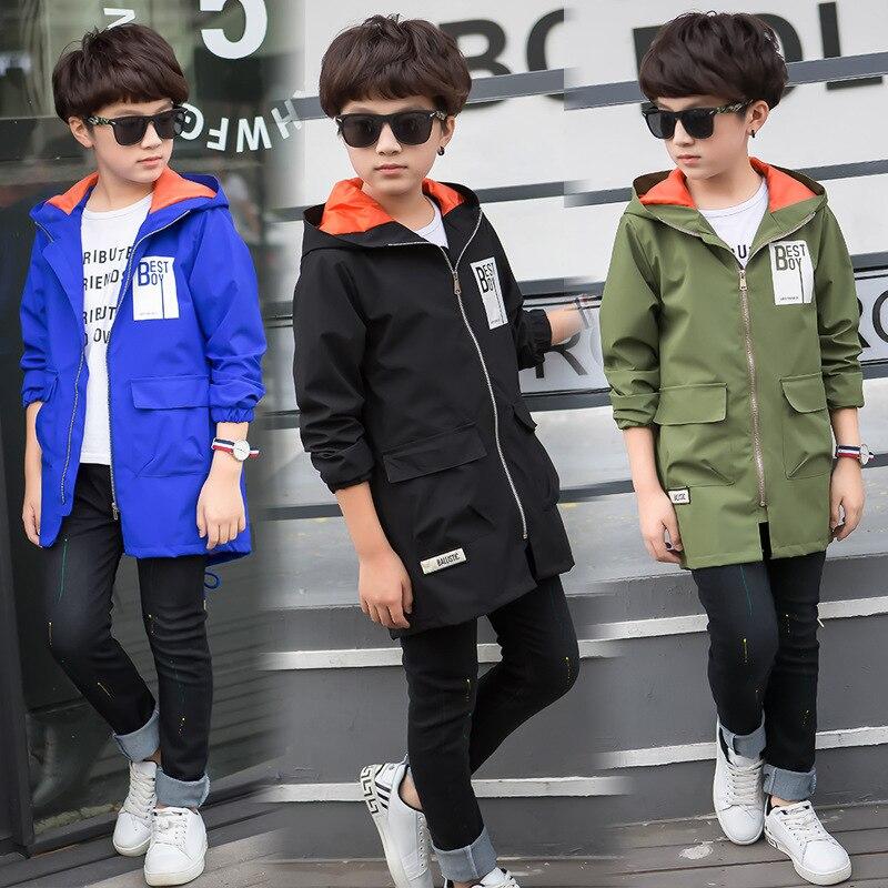 Autumn Baby Boys Outwear Coats and Jackets Long Sleeve Warm Windbreaker Boy Coat Large Size Children Costumes Kids Infants<br>
