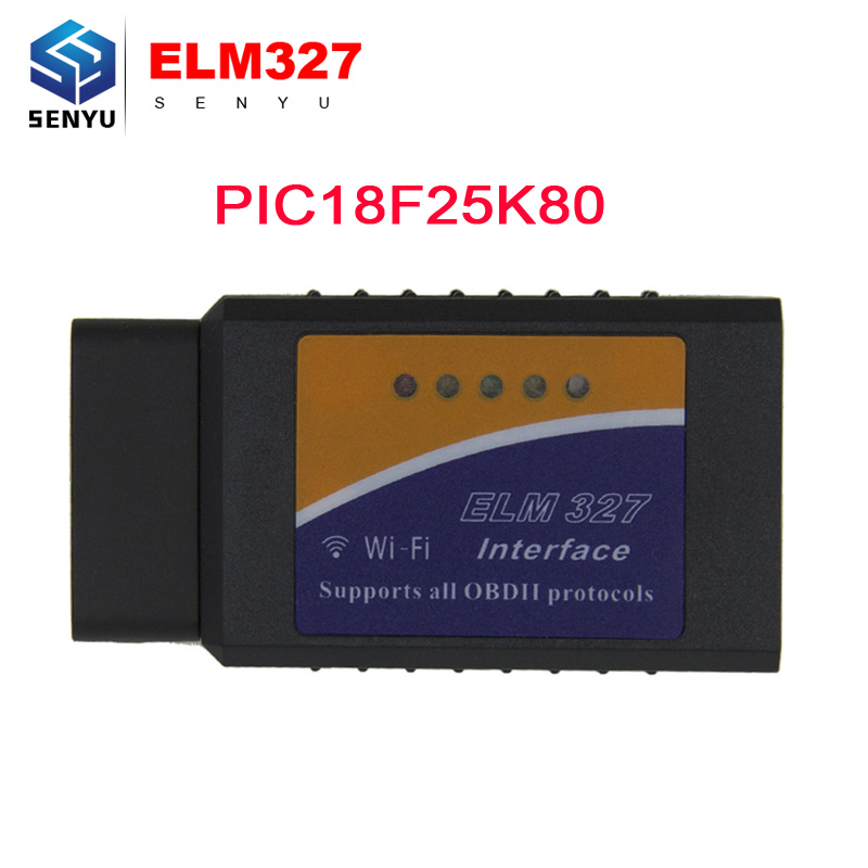 Elm327 V1.5 WIFI OBD II OBD2 Auto Scan Tool ELM327 1.5 Wifi Diagnostic scanner Supports For Android / IOS With PIC18F25K80(China (Mainland))
