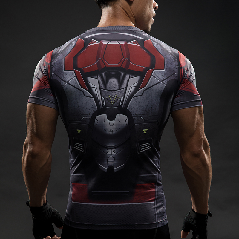 Short Sleeve 3D T Shirt Men T-Shirt Male Crossfit Tee Captain America Superman tshirt Men Fitness Compression Shirt Punisher MMA 30