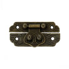 "Dorabeads Jewelry Wooden Box Lock Buckle Decorative Hardware Antique Bronze 4.7cm x 2.5cm(1 7/8"" x1""),10 Sets"