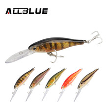 ALLBLUE Simulation Fishing Lures 90mm/7g 2.5M  Suspend Artificial Bait Shad Minnow 3D Eye Wobbler Bass Lure Fishing Tackle peche