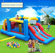 New arrival Giant Dual Slide Inflatable Castle Jumping Bouncer Obstacle Course Bouncy Castle Kids Outdoor Play Toys and Games