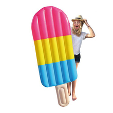 180cm 70inch Giant Rainbow Popsicle Air Lounger Ice lolly Inflatable Pool Float Icicle Swimming Ring For Adult Water Summer Toys(China)