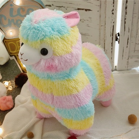 Hot New Soft Rainbow Alpaca Animal Plush Toy 35cm 14inch Girls Lovers Birthday Christmas Present 1pcs Free Shipping<br><br>Aliexpress
