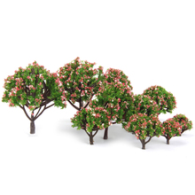 Hot Plastic Christmas Decoration Peach Trees Model Train Railroad Scenery Scale 1:75 - 1:500 10pcs Model Building Kits Sets