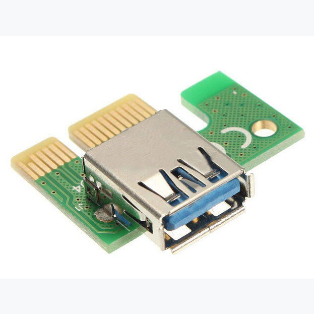 WSFS Hot 10x PCI-E Express 1x To 16x Extender Riser Board Card + USB 3.0 SATA Power Cable<br>