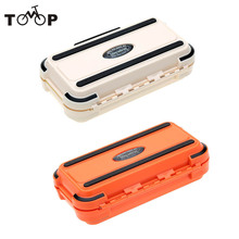 Lure Fishing Box 24 Compartments Double Layer Fishing Box Plastic Fishing Tackle Box 2016 New
