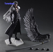 Final Fantasy Action Figure Paly Arts Kai Final Fantasy VII 7 Sephiroth PVC Figure 270MM Playarts Kai Collectible Model Toys F01