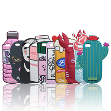 The Case for iPhone 7 Plus Cases Soft Silicone Back Cover Case Dolls Chill Pills Poison Spray Boys Tears Kakao Beer Hello Kitty