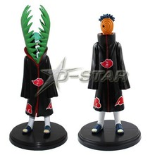 DHL Shipping 12 pairs Naruto Anime Akatsuki Uchiha Madara & Zetsu Pair Set PVC Action Figure Model Toy with Stand (2pcs per set)