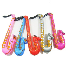 70cm Fun Playing & Learning Inflatable Blow Up Rock&Roll Saxophone Musical Instrument Toy BM88