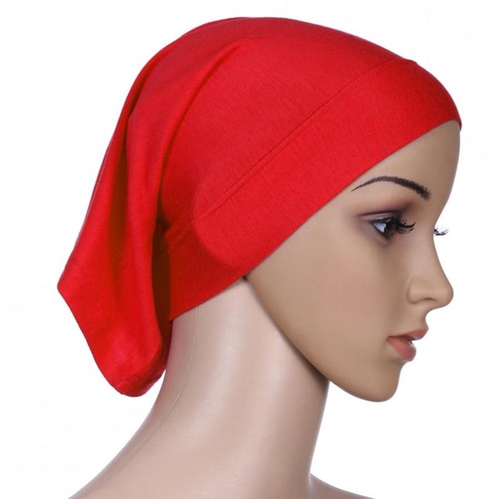 ROPALIA Women Fashion Islamic Hijab Cap Scarf Tube Bonnet Hair Wrap Female  Colorful Head Band 7