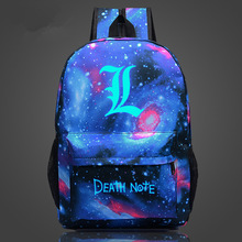 Free Shipping Backpack Death Note School Bag Children Luminous Backpacks For Teenagers Nylon Shoulder Bag Students Travel Bags(China)