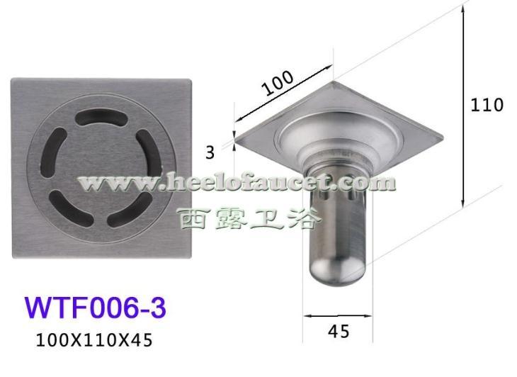 Bathroom 4 brass water-sealing water trap anti-odor deodorization type floor drain<br>