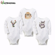Baby Boy Girls Clothes Set Newborn Baby Boys Romper 100%Cotton 3pcs/Set Long Sleeve Overalls Winter Spring Children Clothes(China)