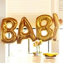 "Biggest Size 40"" Gold Alphabet A-Z 26 Letters Balloon Wedding Party Decoration Happy New Year Decoration high Quality"