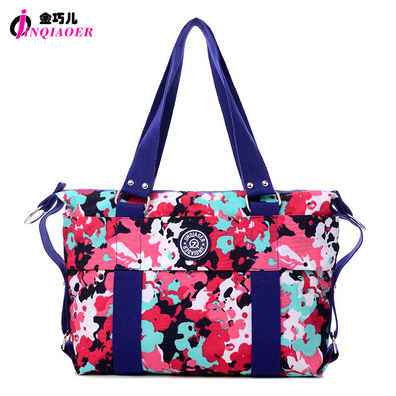 JINQIAOER 16 Color Fashion Women Handbag Camouflage Printed Waterproof Nylon Ladies Messenger Bag Tote Bolsas Brand Shoulder Bag<br>