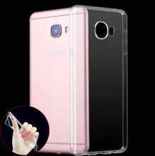 Ultra thin Clear Transparent TPU Gel Rubber Soft Silicone Case For Samsung Galaxy C5 C7 Pro E5 E7 Z3 Ace 4 Protective Skin case