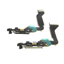 Hot Sale High Quality Black Or White For Iphone 4 4S Charger Dock USB Charging Port Plug Flex Cable With Mic Microphone
