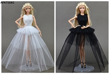 Doll Dresses Sexual Multi-layer Evening Gown Purely Manual Clothes Lace Wedding Dress for Barbie Dolls For 1/6 BJD Doll Gift(China)